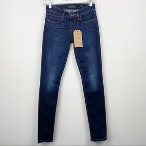 NEW LUCKY BRAND Stella Dark Wash Skinny Low Rise Jeans Twilight Blue Size 00 24